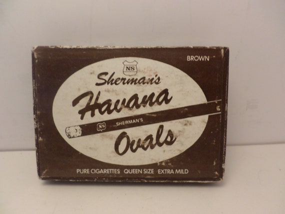 Vintage Sherman's Havana Ovals pure cigarette box so cool