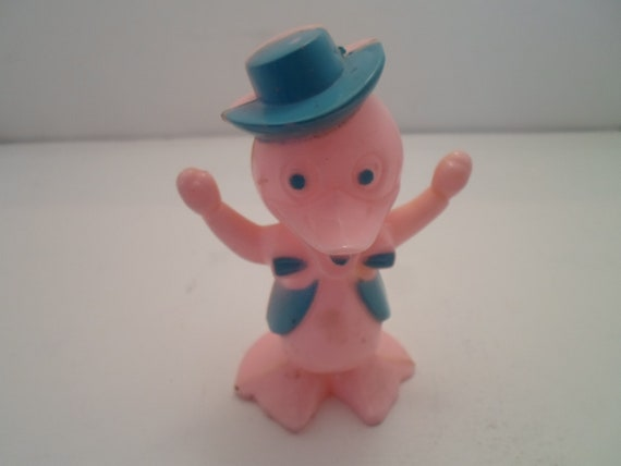Vintage 1950's Mid Century Easter Duck Cowboy Figure Adorable Candy Container