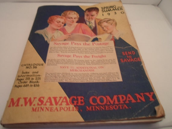 Antique 1930 Spring Summer M W Savage Company Minneapolis Minnesota Catalog Everything for the Art Deco Dweller Farmer Fashion Health
