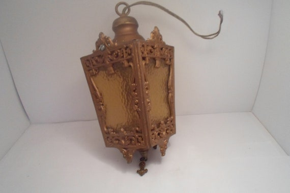 Antique Vintage French Country Cottage Hanging Fixture Hallway Lamp Chic Decorator Designer