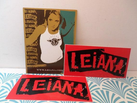 Vintage 00's vinyl stickers & promo card Music Alternative