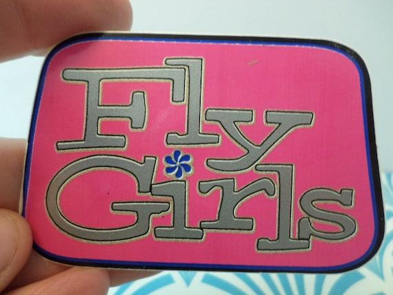 Vintage Black Flys sunglasses Fly Girls vinyl sticker 90's girl skate shop