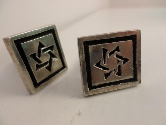 Vintage Star of David cufflinks Fenwick & Sailors Sterling silver cufflinks
