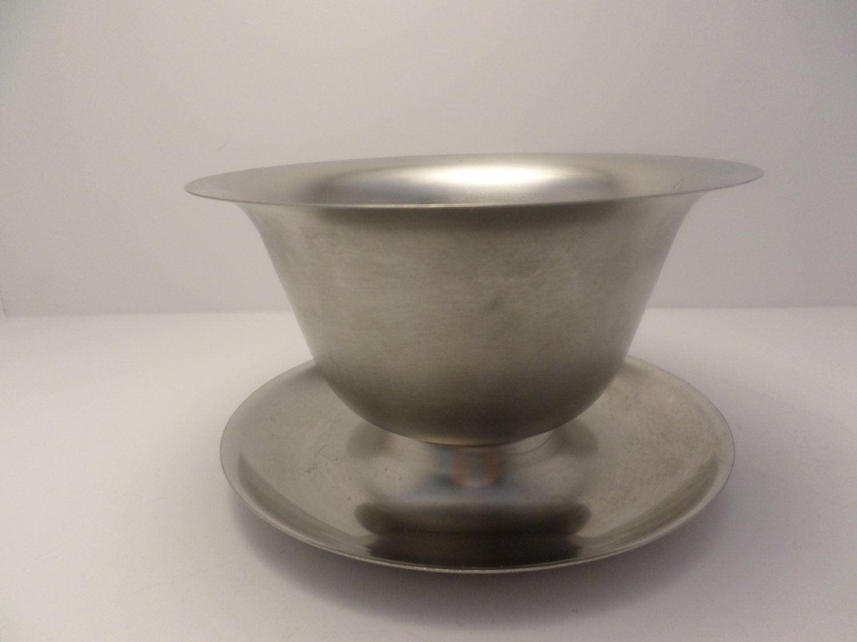 Vollrath Mid-Century Modern stainless steel sauce bowl gravy bowl ...
