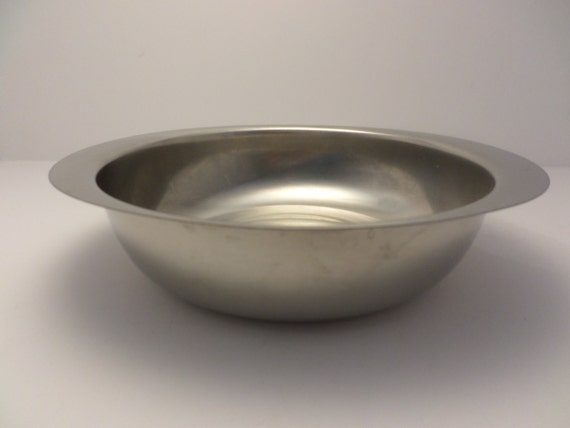 Gense Sweden 18/8 Stainless Steel serving bowl Mid-Century Modern