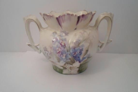 Antique R S Prussia Sugar Bowl Repurpose or Use 1900 Unsigned