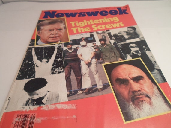 Vintage December 17 1979 Newsweek Magazine Tightening The Screws Iran hostages Jimmy Carter History repeating