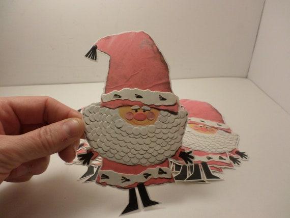 groovy vintage 60's Christmas Santa cut out gift card