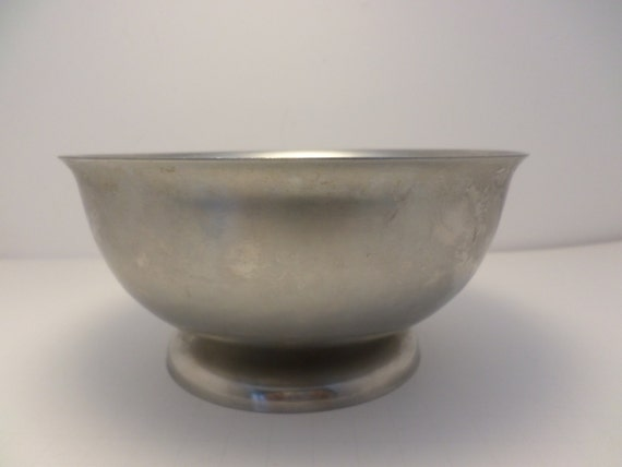 Stelton Denmark stanless steel serving bowl Mid-Century Modern vintage 60's