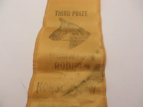 Vintage 1942 Third Place Horse show ribbon equestrian style