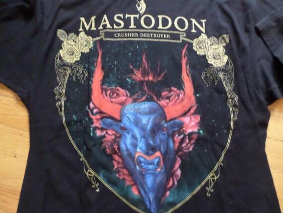thrift 00's rock t shirt MASTODON crusher destroyer Tultex t size XL