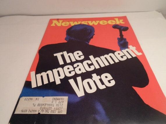 Vintage August 5 1974 Newsweek Nixon Impeachment Vote Interesting Historical Repeat