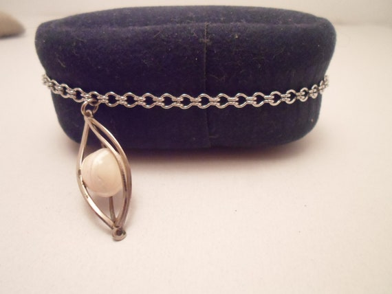 Vintage 1970's Earth Charm Bracelet Caged Marble Sphere Ball Interesting Artist Estate Unusual Find