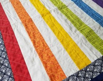 Rainbow Baby Quilt Blanket