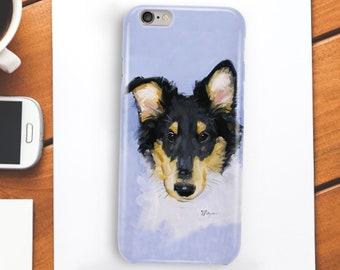 Collie phone case, iPhone 5, iPhone 6, iPhone 7, iPhone 8, Samsung
