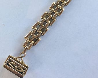Victorian 10k Yellow Gold Chain Watch Fob