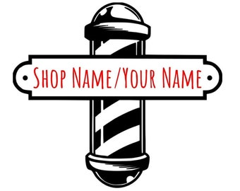 Custom Door Decals Vinyl Stickers Multiple Sizes Business Name Barber Shop Business Barber Shop Signs Outdoor Luggage /& Bumper Stickers for Cars Yellow 72X48Inches Set of 2