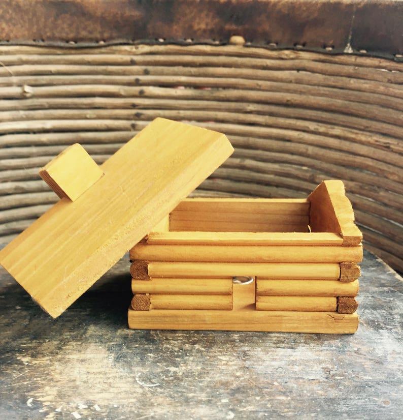 Small Handmade Log Cabin Incense Burner With 100/% Natural Balsam Fir Incense