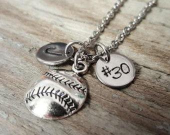 Baseball or Softball Necklace - Baseball - Softball - Sports Necklace - Athlete Necklace - Sports Player - Athlete Gift