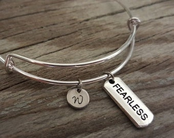 Fearless Bangle - Inspirational Bangle - Fearless Bracelet - Fearless Jewelry - I/B/H