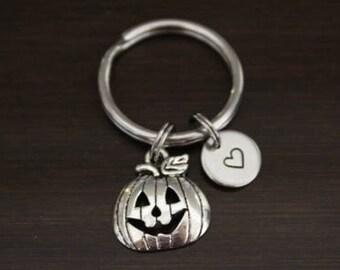 Pumpkin Key Ring/ Keychain / Zipper Pull - Pumpkin Gift - Pumpkin Keychain - Pumpkin Lover Gift - Halloween Keychain -Halloween Lover- I/B/H