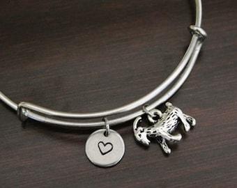 Goat Bangle Bracelet-Goat Jewelry-Goat Lover Goat Bangle-Greatest Of All Time-Animal Lover Gift-Farmer Gift-Rancher-Herder-Yoga-Heart