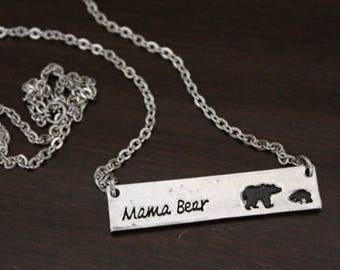 Mama Bear Necklace - Mother Necklace - Mom Gift - Mama Bear Gift - Mama Bear Jewelry