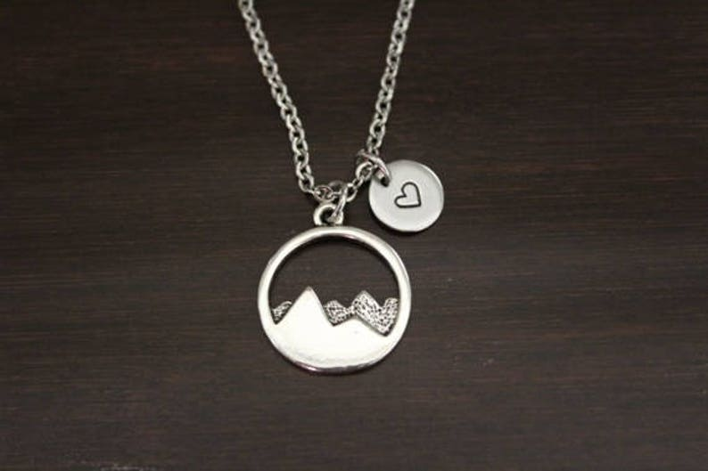 0788d454823df Mountain Necklace - The Mountains Are Calling And I Must Go - Wanderer  Jewelry - Wander Necklace - Mountain Jewelry - Mountain Lover - I/B/H