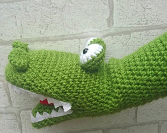 Crochet Crocodile Hand Puppet , crocodile puppet, children's hand puppet, crocodile toy