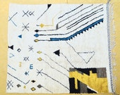 Berber Moroccan Rugs , bohiman rug ,Moroccan Rug , wool Moroccan Rug . Vintage rug , beniourain rug