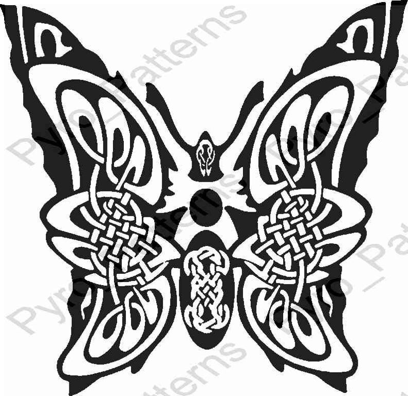 photo about Printable Celtic Knot Patterns named Pyrography Picket burning Butterfly Celtic Knot Behavior Printable Stencil Fast Obtain Pyro_Routines_erfly 0158