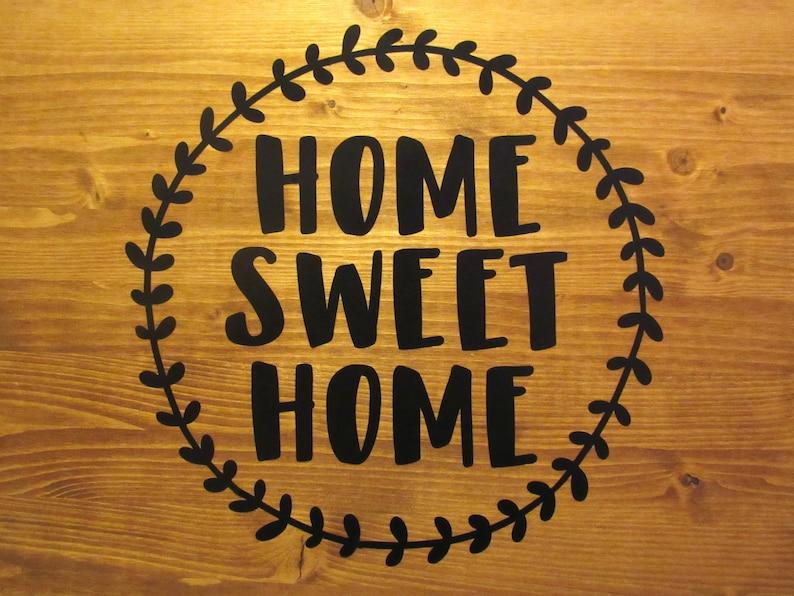 Home Sweet Home Black Vinyl Decal