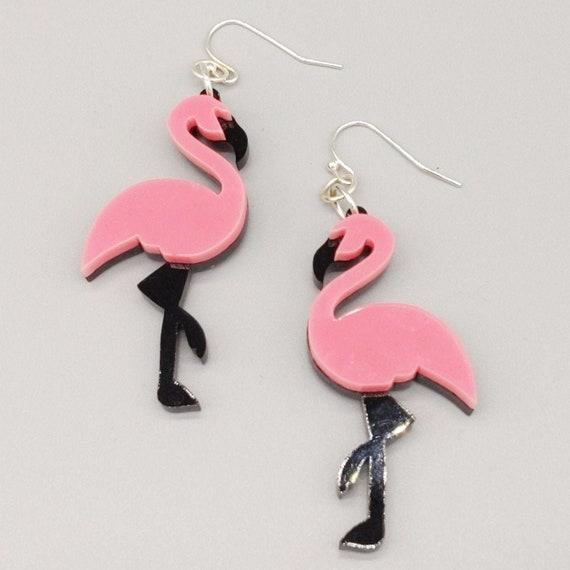 Flamingo Jewelry Animal Jewelry Tropical Earrings Flamingo Earrings Animal Earrings Tropical Gift Summer Earrings Flamingo Gift