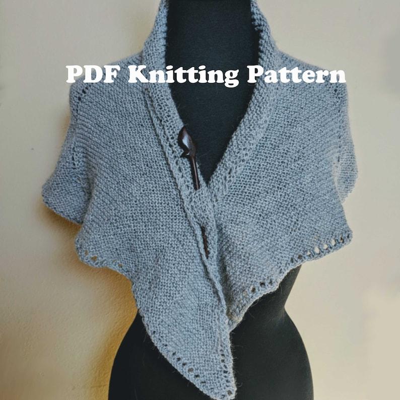 English Claire/'s Gray Shawl PDF Knitting Pattern