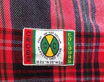 32871e7c8ba Rare vintage Cross colours hip hop brand short pant 80s 90s style