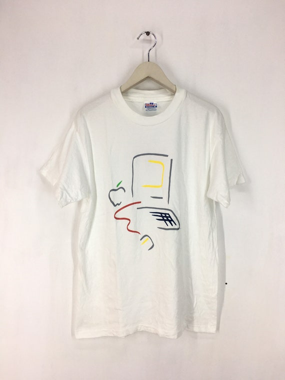 Vintage 90s Apple promo t shirt M