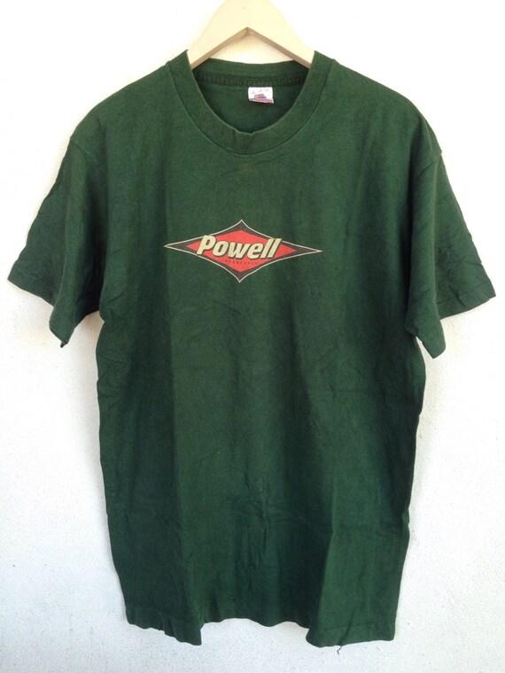 Vintage 90s powell longboard tshirt powell peralta