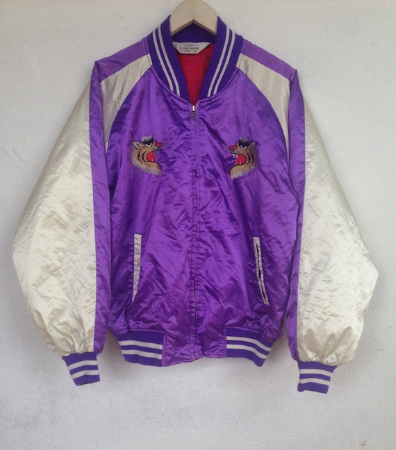 sukajan Japan souvenir tiger L jacket Rare vintage qF7nt