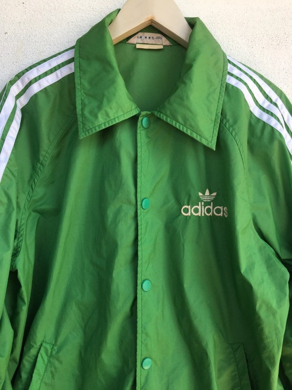 Vintage Adidas windbreaker Button up japan made