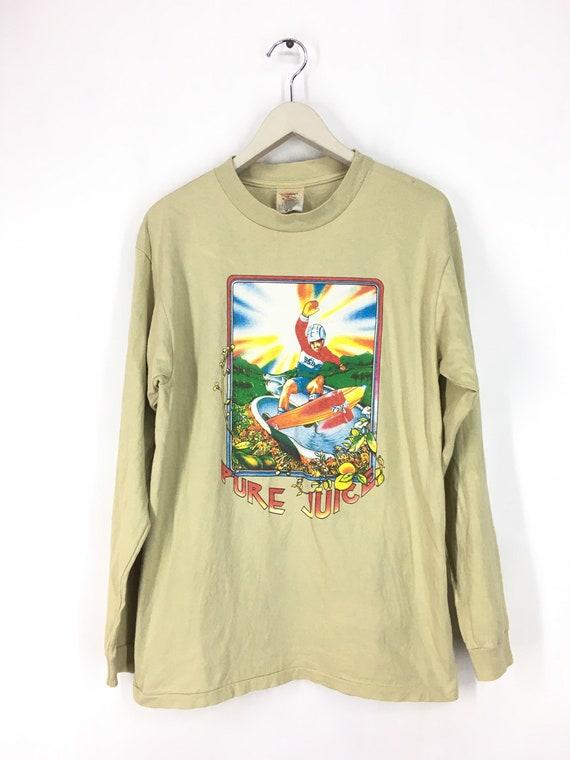 Vintage 90s SIMS skateboard long sleeve t shirt M