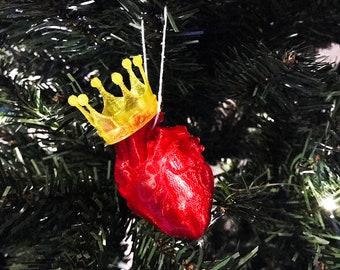 Anatomical Heart Ornament, Anatomy Heart Ornament, Christmas Heart Ornaments, Heart Ornament, Crown Heart, Heart Crown, Christmas Decoration