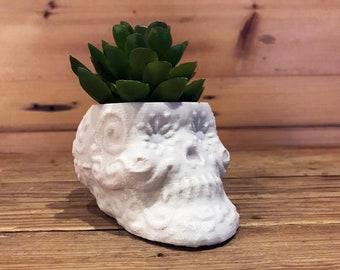 Sugar Skull Succulent Planter, Sugar Skull Plant Pot, Day of the Dead Planter, Day of the Dead Skull Planter, Halloween Planter, 3D Printed