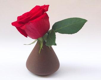 Floral Bud Vase, Natural Bud Vase, Centerpiece Bud Vase, Flower Bud Vase, Small Vases, Floral Vase, Bud Vase, 3D Printed, Cork, Cork-fill