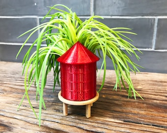 Brooklyn Water Tower Planter, NYC Water Tower Planter, Tabletop Decor Water Tower, Miniature Tabletop Water Tower Planter, Mini Water Tower