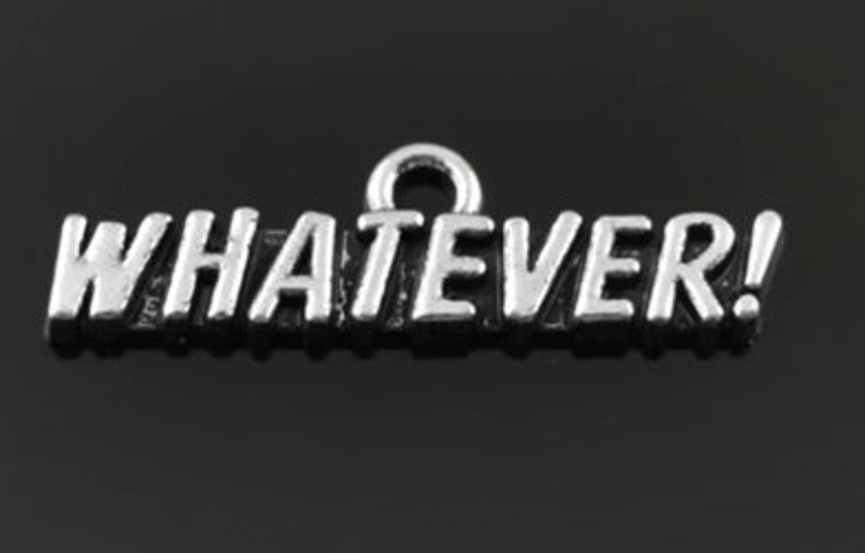 Whatever Word Charm  Clip-On  Ready to Wear image 0