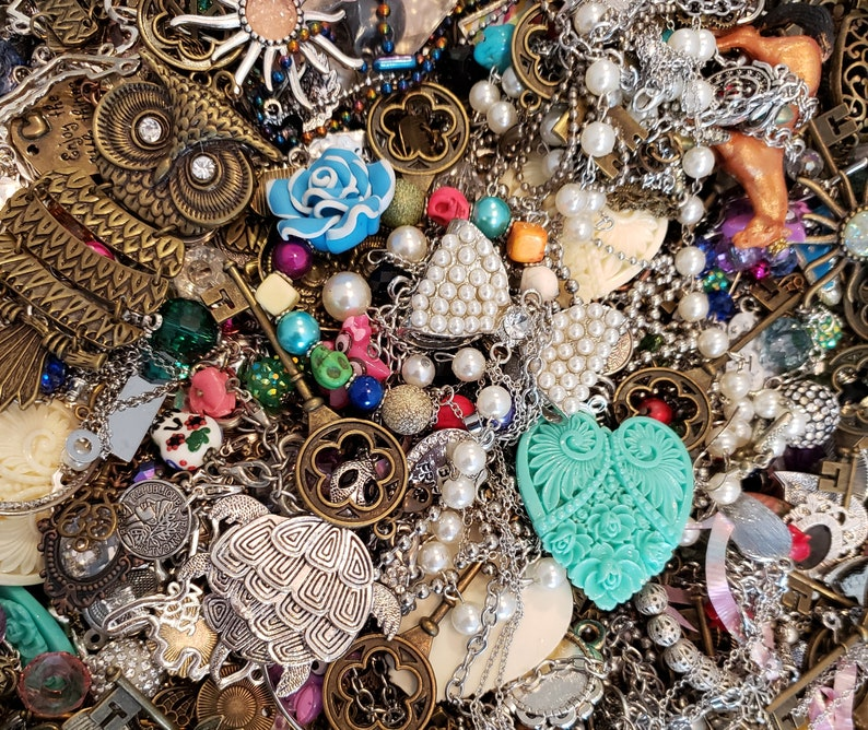 Foxi's Glamour Mix  Jewelry Bits and Pieces Assemblage image 0