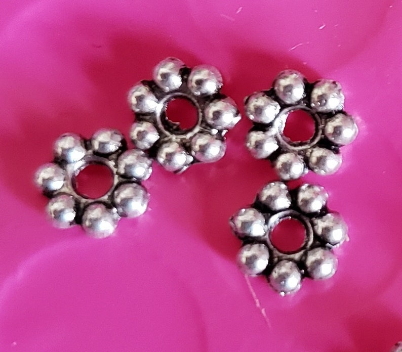 Daisy Spacer Beads  5mm Size  8 ounce package at least image 0