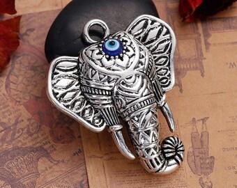 Elephant Pendant   Elephant Statement Pendant   Boho Pendant   Bohemian Pendant   Elephant Jewelry
