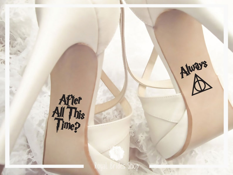 Wedding Shoes Sticker Wedding Decal Wedding Sticker Bride Shoes Decal Wedding Shoes Decals After All This Time Always