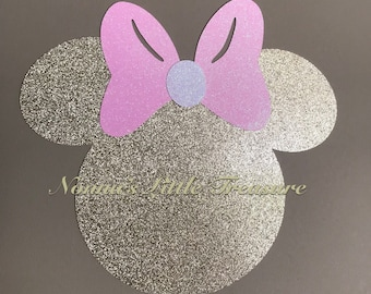 Large Minnie Mouse Head Die CutMinnie BirthdayPink And Gold BirthdayMinnie First BirthdayFirst Birthday